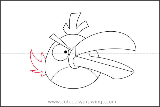 How to Draw Green Angry Bird Hal Step by Step