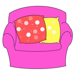 How to Draw a Cloth Sofa Step by Step