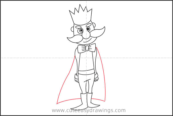 How to Draw a Skinny King Step by Step