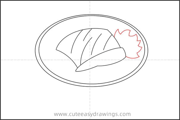 How to Draw a Bowl of Beef Noodles Step by Step