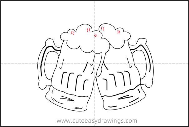 How to Draw Beers Step by Step