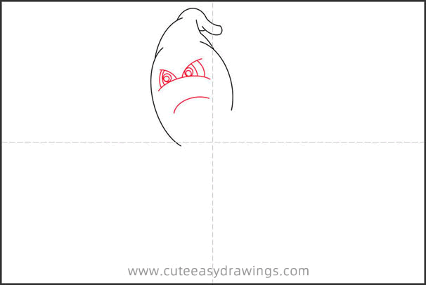 How to Draw an Angry Ghost Step by Step