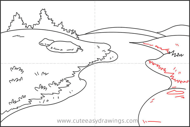 How to Draw a Cartoon River Step by Step