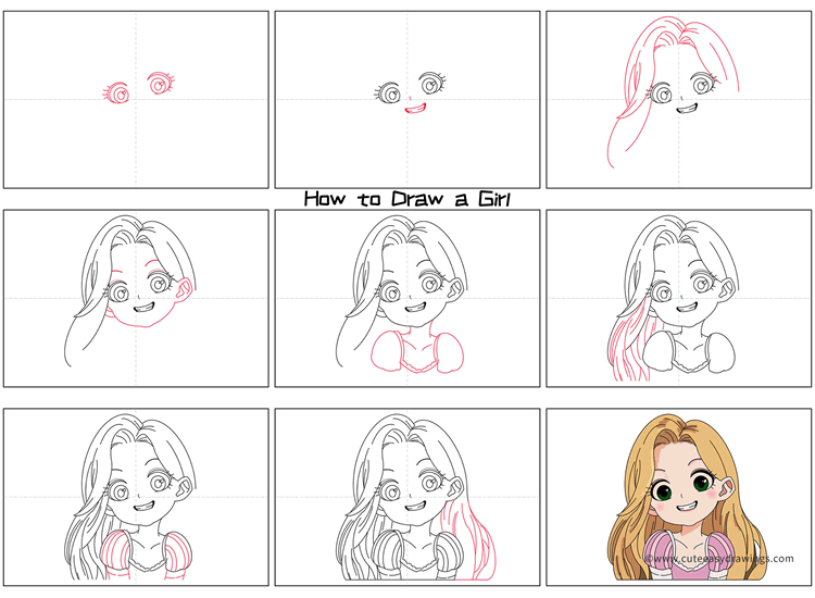 How to Draw a Beautiful Girl Step by Step