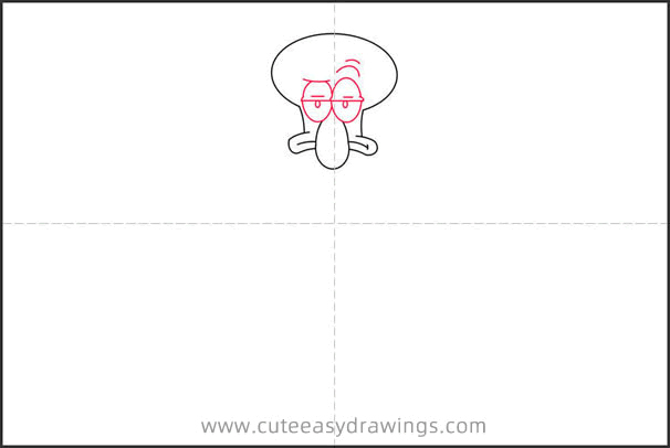 How to Draw Squidward Tentacles Step by Step