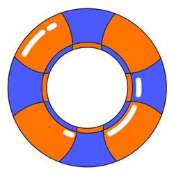 How to Draw a Lifebuoy Step by Step