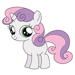 How to Draw Sweetie Belle from My Little Pony