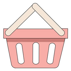 How to Draw a Shopping Basket Step by Step