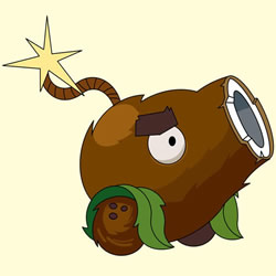 How to Draw Coconut Cannon from Plants vs. Zombies