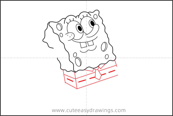 How to Draw SpongeBob Running Step by Step