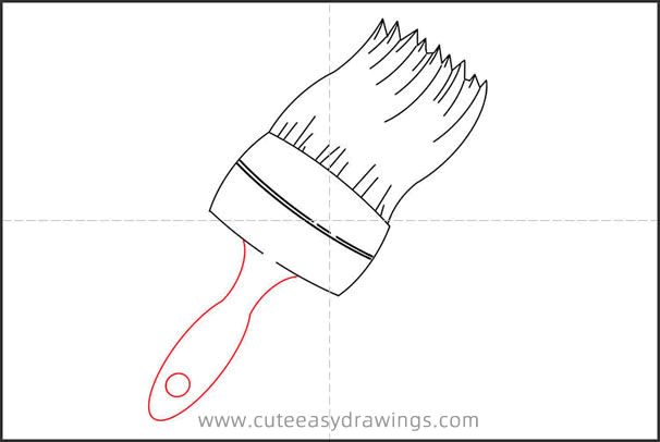 How to Draw a Paint Brush Step by Step