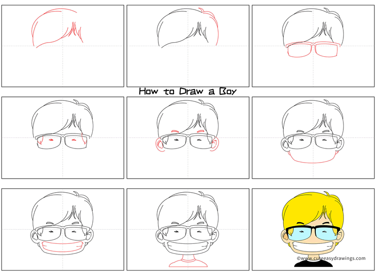 How to Draw a Boy Avatar Step by Step