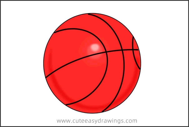 How to Draw a Cartoon Basketball Step by Step