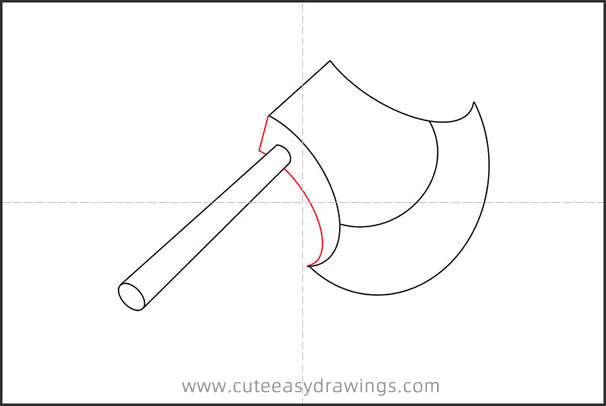 How to Draw a Weapon Axe Step by Step
