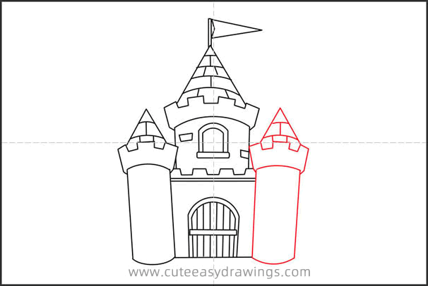 How to Draw a Cartoon Castle Step by Step