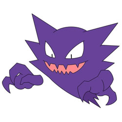 How to Draw Haunter from Pokemon Step by Step