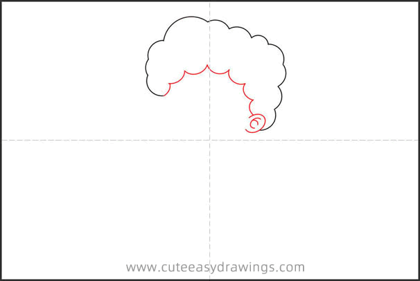 How to Draw a Boy with Curly Hair Step by Step