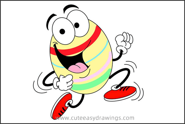 How to Draw a Cartoon Easter Egg Step by Step