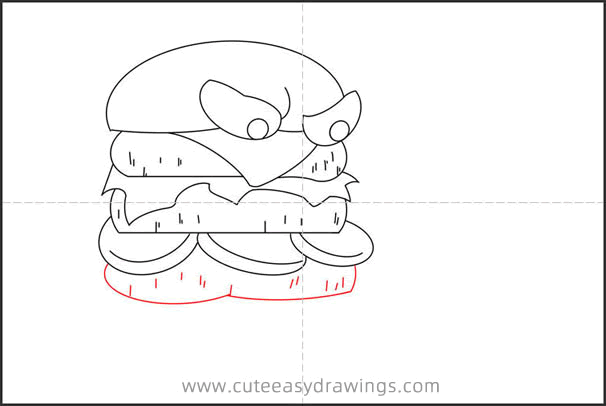 How to Draw Cartoon Hamburgers Step by Step