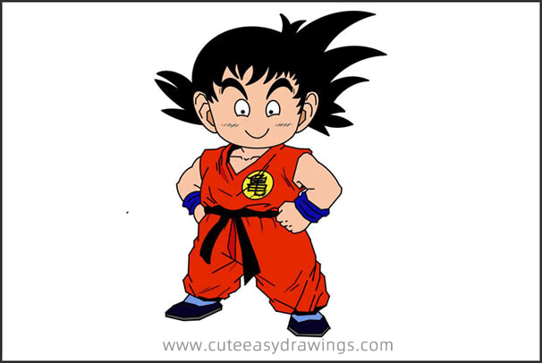 How to Draw Son Goku in Childhood Step by Step