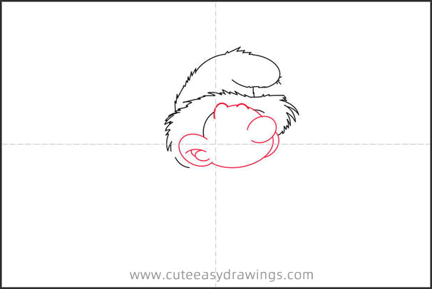 How to Draw a Smurf Doing Farm Work Step by Step