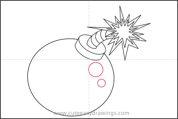 How to Draw a Cartoon Bomb Step by Step