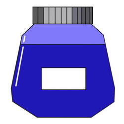 How to Draw a Bottle of Ink Step by Step
