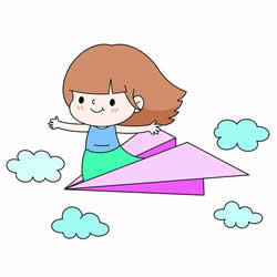 How to Draw a Girl Flying Step by Step