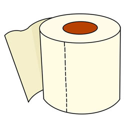 How to Draw a Toilet Paper Roll Step by Step