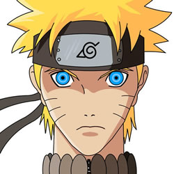 How to Draw Uzumaki Naruto Face Step by Step