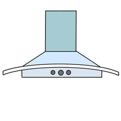 How to Draw a Range Hood Step by Step