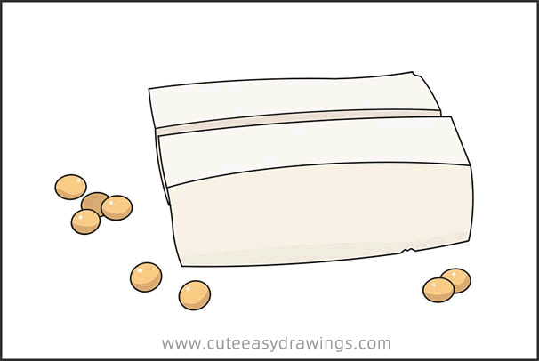 How to Draw Tofu Step by Step