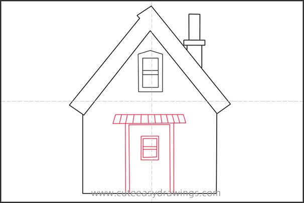 How to Draw a Small House Step by Step