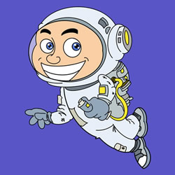 How to Draw an Astronaut in Space Step by Step