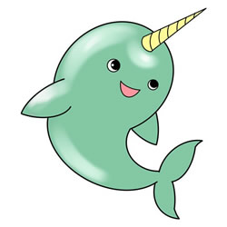How to Draw a Cute Narwhal Step by Step