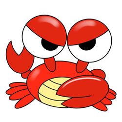 How to Draw a Cartoon Crab Step by Step