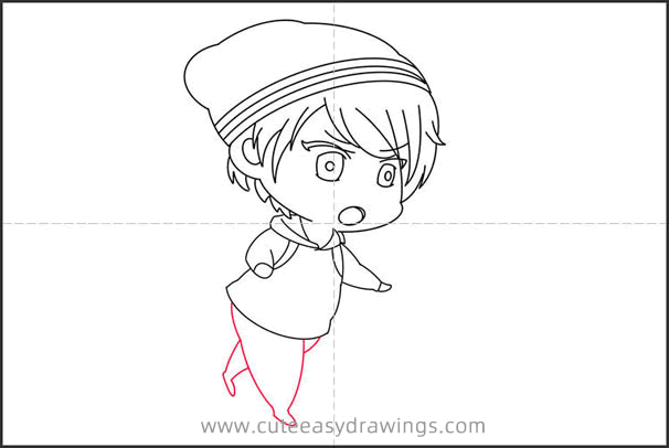 How to Draw a Boy in a Hat Step by Step