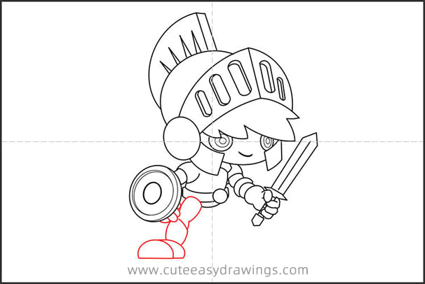 How to Draw a Knight with Sword and Shield Step by Step