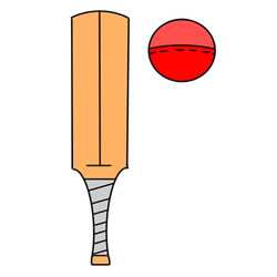 How to Draw a Cricket Bat and Ball Step by Step