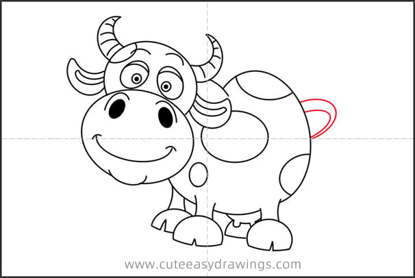 How to Draw a Cartoon Cow Step by Step