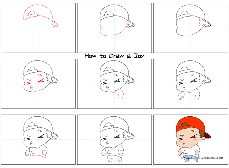 How to Draw a Cute Boy Step by Step