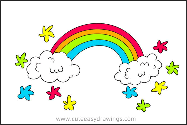 How to Draw a Rainbow Step by Step