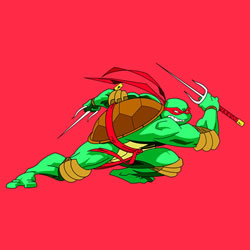How to Draw Raphael Fighting Step by Step