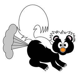 How to Draw a Skunk Farting Step by Step