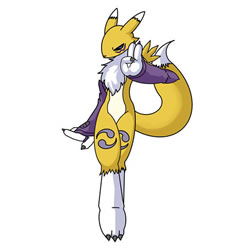 How to Draw Renamon from Digimon Step by Step
