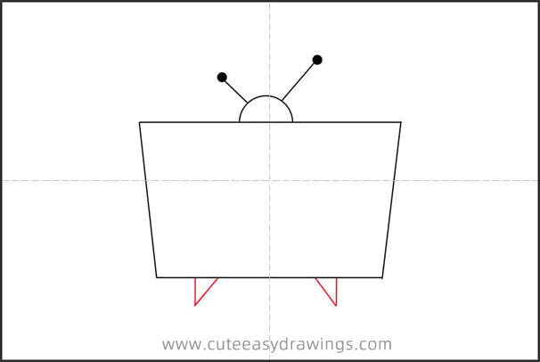 How to Draw a Cartoon TV Step by Step