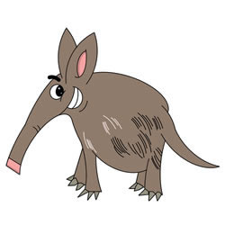 How to Draw an Aardvark Step by Step