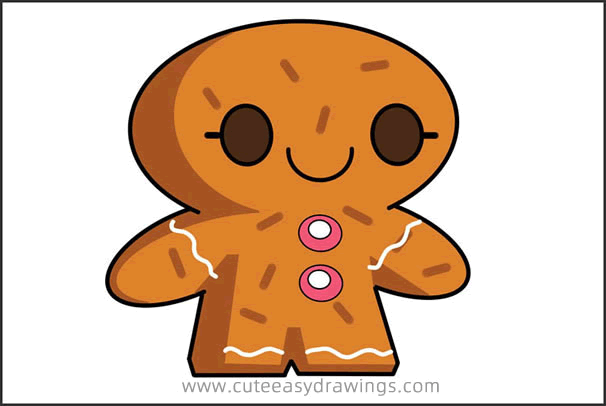 How to Draw a Gingerbread Man Step by Step