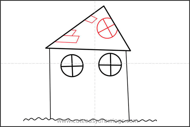 How to Draw a Cartoon House Step by Step