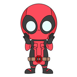 How to Draw Cartoon Deadpool Step by Step